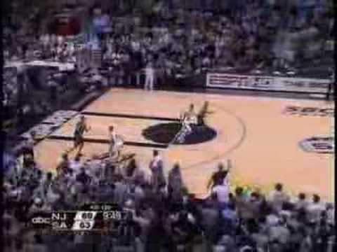 Ginobili steal vs. Nets