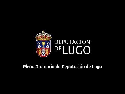 Pleno da Deputación de Lugo 26/07/2016