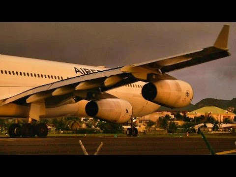 beautifull - Here you have a beautifull Air France / Airbus A340-300 takeoff just minutes before sunset at maho beach. We got some really nice lighting however as you may...
