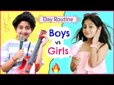 GIRLS Vs BOYS - Day Routine | #Fun #RolePlay #Sketch #MyMissAnand