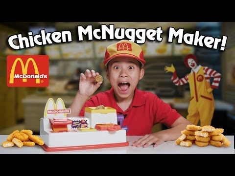 McDonald's CHICKEN McNUGGET MAKER!!! Turn Bread Into Chicken! (видео)