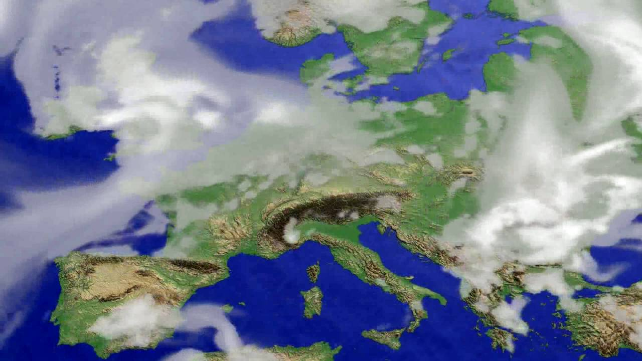 Cloud forecast Europe 2016-06-26