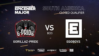 EgoBoys vs Gorillaz-Pride, EPICENTER Major 2019 SA Closed Quals , bo3, game 1 [Eritel]