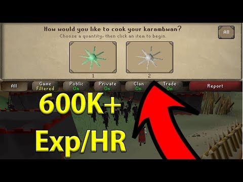 Karambwan Cooking Is Now EASIER Than EVER (600K+ Cooking Exp/HR) No Mousekeys