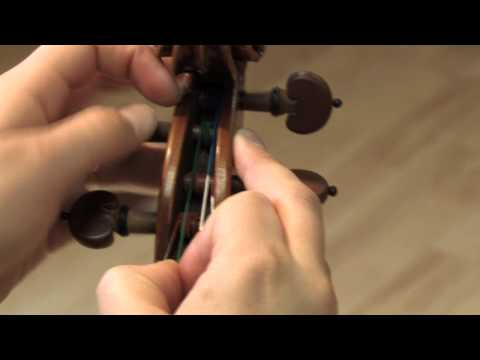 Changing a Violin String