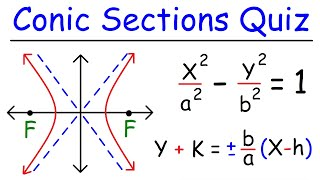 This precalculus video tutorial explains how to graph conic sections in standard form such as parabolas, hyperbolas, ellipses, and circles.  This video contains plenty of examples and practice problems.Here is a list of topics:1.  Conic Sections Review2.  Graphing Circles In Standard Form3.  Finding The Center and Radius of a Circle4.  Graphing Ellipses In Standard Form5.  Writing an Equation In Standard Form By Completing The Square6.  Identifying The Coordinates of the Foci7.  Graphing Parabolas Using The Foci and Directrix8.  Identifying the Equations of the Asymptotes of a Hyperbola9.  Using the Horizontal Major Axis and Vertical Minor Axis Length to graph ellipses.