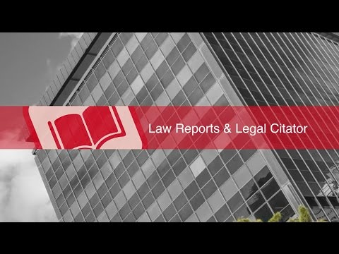 Law Reports and Legal Citator