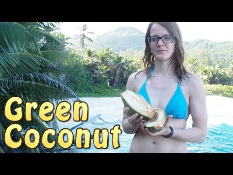 How To Open A Coconut Without Tools - Tropical Island Part 1 of 14