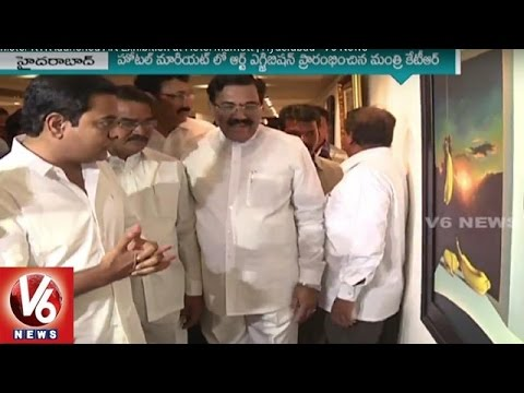 IT-Minister-KTR-launched-Art-Exhibition-at-Hotel-Marriott-Hyderabad-12-03-2016