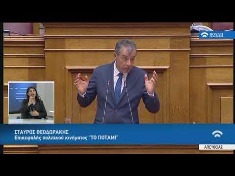"""Σ.Θεοδωράκης(Επικεφαλής """"Ποτάμι"""")(Ψήφος εμπιστοσύνης)(10/05/2019)"""