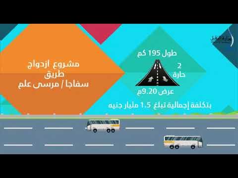 فيديوجراف مشروع ازدواج طريق سفاجا / مرسى علم
