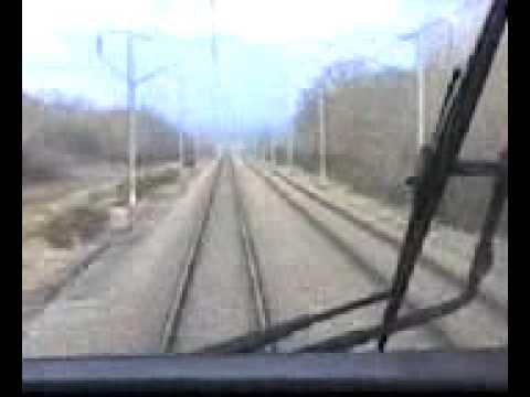 En cabine du TGV entre Lyon et Paris