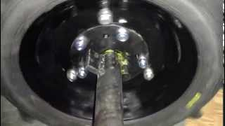 мотокультиватор КРОТик встает на колеса через дифференциалы