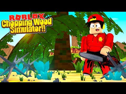 ROBLOX - WOOD CHOPPING SIMULATOR!!!