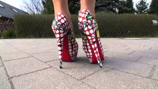 TAMIA PRESENTS HER NEWEST LOUBOUTIN HIGH HEELS