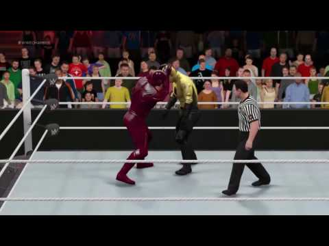 Flash Vs Reverse Flash WWE 2K17