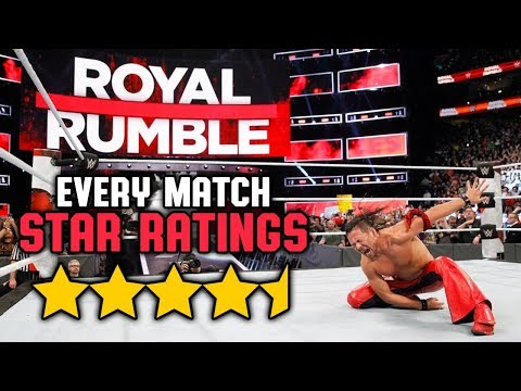 WWE Royal Rumble 2018 - Every Match Star Ratings