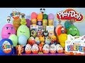 30 Play Doh Kinder Surprise Eggs Spongebob Squarepants Peppa Pig Simpsons Disney Princess Playdough