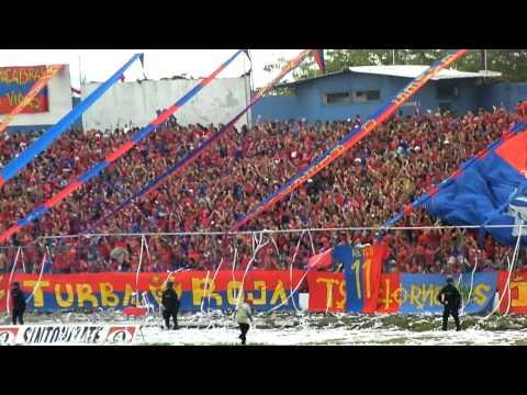 Club Deportivo Fas Recibimiento Espectacular Mega Telon en HD Santa Ana El Salvador 15.04.2012 - Turba Roja - Deportivo FAS