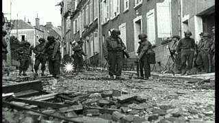 Saint-Lo France  city photos : Town of Saint Lo during allied invasion of France in World War II. HD Stock Footage