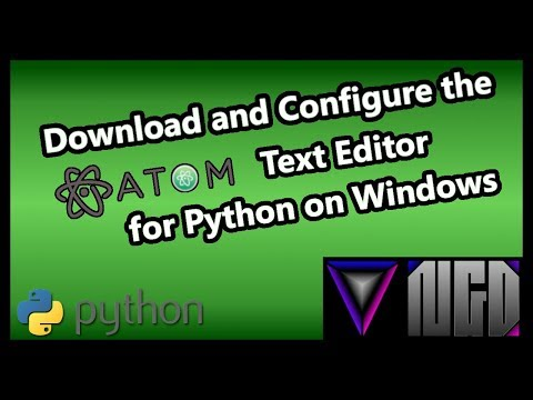 Download and Configure Atom Text Editor for Python on Windows
