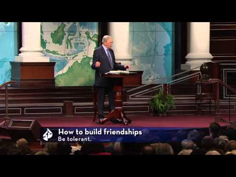 Dr. Charles Stanley – Thinking Through Your Friendships