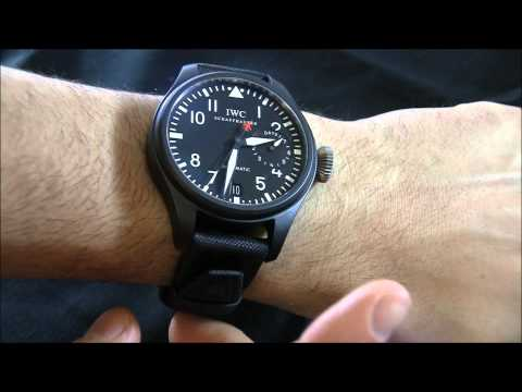 IWC Reviews - This is the Top Gun version of IWC's famous Big Pilot watch collection. For 2012 the Big Pilot get's the Top Gun treatment in an all ceramic matte black case...