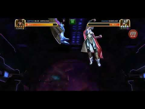 Gambit Versus Thor Girl Special Moves