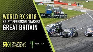 Kristoffersson Big Crash in Semi-Final 1 | Cooper Tires World RX of Great Britain 2018