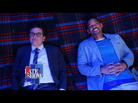 Will Smith and Stephen Colbert Ponder Deep