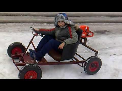 Багги своими руками с двигателем от бензопилы - ремонт своими руками, инструкция, фотоРемонт автомобиля своими руками