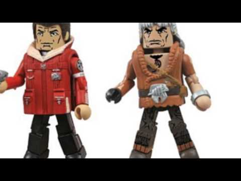 Video YouTube post on the Toys Star Trek Legacy Minimates Series