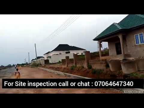 Acres of land at West Park and Garden estate  Aiyegun-Oleyo