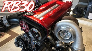 1000+HP Skyline GTR RB30  Engine is Complete! - Motec ECU + Engine Bay Paint by  That Racing Channel