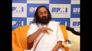 Sri Sri's Interview during CNBC TV 18 - PMI National Conference, Chennai