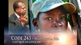 Dr. Georges Alula donne la définition du Génocide pour le Congo sur TV Code243 – Washington