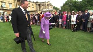 The Queen, along with The Duke of Edinburgh and Princess Beatrice, attends the first Garden Party of the summer at Buckingham Palace. Approximately 8,000 gue...