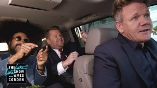 Video Gordon Ramsay Drives James & Reggie to LAX - #LateLateLondon MP3, 3GP, MP4, WEBM, AVI, FLV Desember 2017