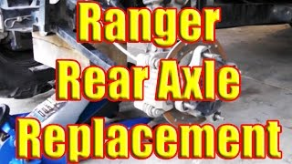 4. Polaris Ranger: Rear Axle Change and How to Remove if STUCK SEIZED in rear end