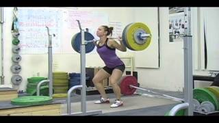 Weightlifting training footage of Catalyst weightlifters. Alyssa