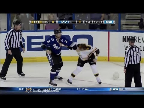 Shawn Thornton vs Keith Aulie Mar 8, 2014