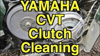 6. Yamaha Grizzly 700 CVT Primary Clutch Cleaning
