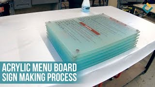 The Process of Making Acrylic Menu Boards with Standoffs