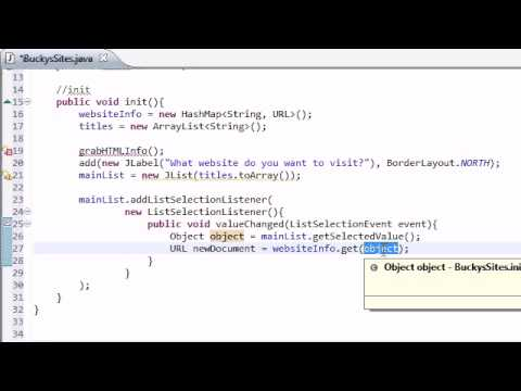Intermediate Java Tutorial – 31 – Listening for User Events