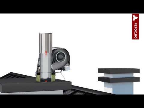 Cum functioneaza un ventilator cu tiraj fortat pentru cosul de fum