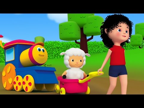 Mary Had Sedikit anak domba | Bob Kereta | sajak anak | Song For Kids | Mary Had a Little Lamb