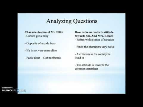 Mr. And Mrs. Elliot - Oral Presentation