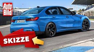 BMW M3 (2020) Skizze - technische Daten - Marktstart - Competition by Auto Bild