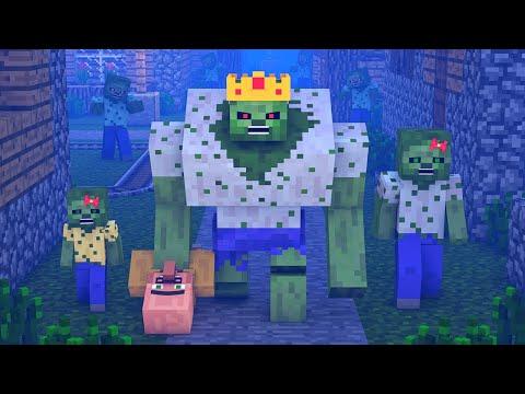 Zombie vs Villager Life 10 - Alien Being Minecraft Animation (видео)