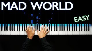Mad World - Gary Jules | На пианино | Караоке | Ноты
